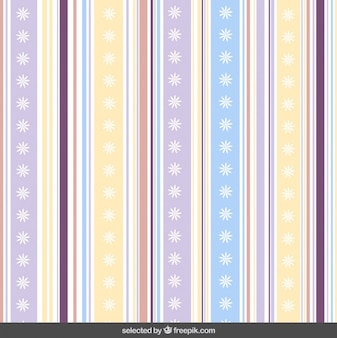 Cute striped pattern with flowers