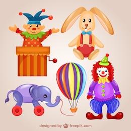 Cute toys illustrations