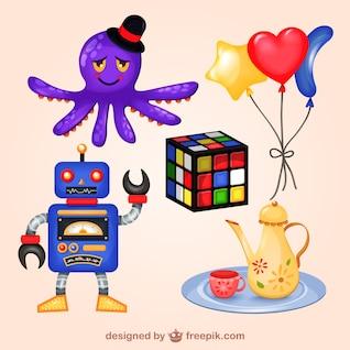 Cute toys vectors