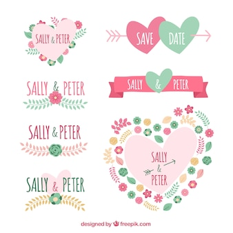 Cute wedding badges