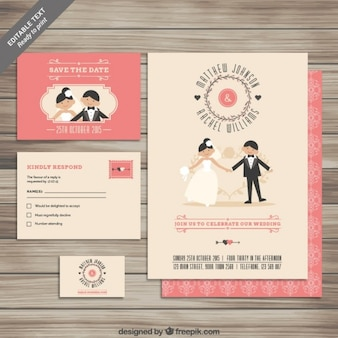 Cute wedding invitation collection