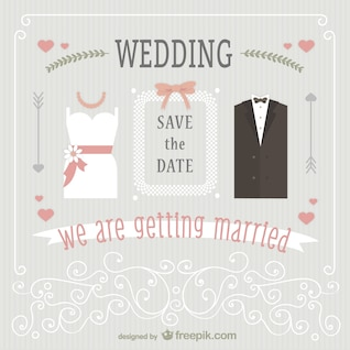 Cute wedding invitation