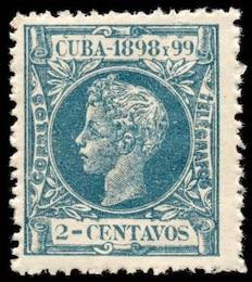 cyan king alfonso xiii stamp