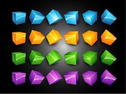 d boxes vector set