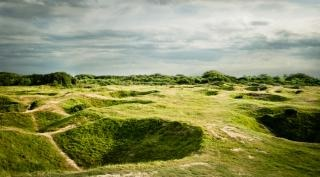 d day bomb craters
