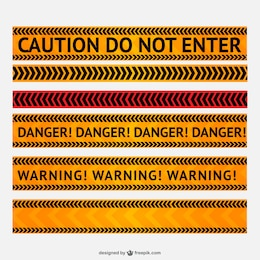 Danger and warning line vector