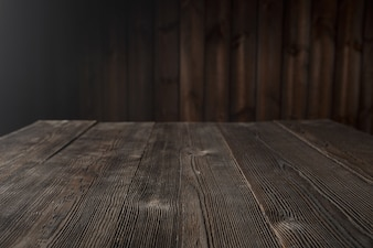 Dark brown wood table