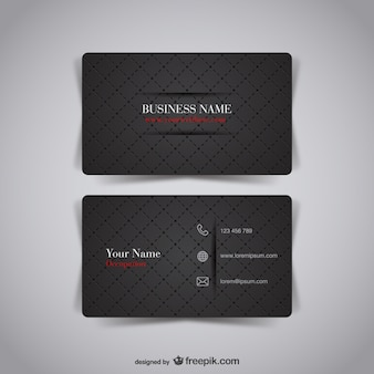 Dark business card free design