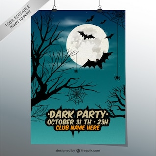 Dark party poster template