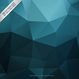 Dark turquoise polygonal background