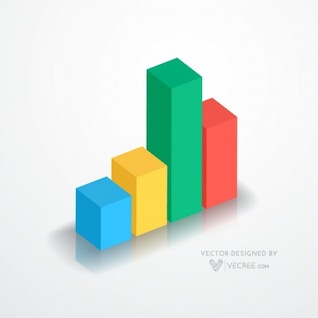 Data graph infographic in four colors