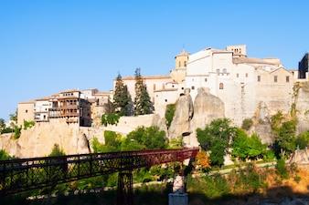 Day view of Saint Paul bridge in Cuenca