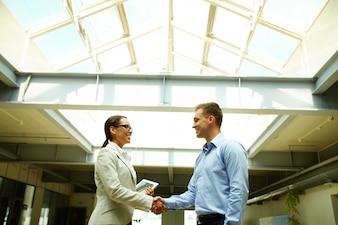 Deal closed between executives