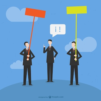 Decision making businessmen