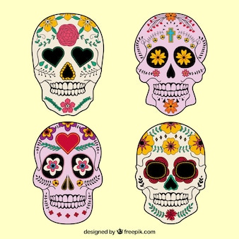 Decorated mexican skulls
