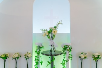 Украшение искусственный цветок. (Фильтрованное изображение обработано vintag