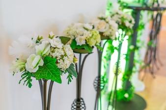 Decoration artificial flower . ( Filtered image processed vintag