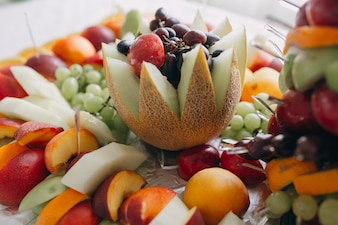 Decoration made with fruits