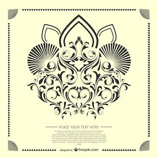Decorative arabesque card template