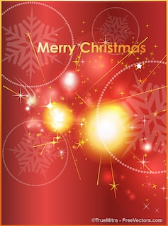 Decorative christmas sparkles background