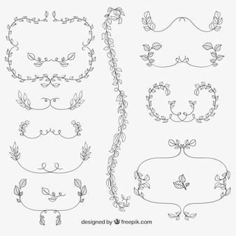 Decorative floral ornaments