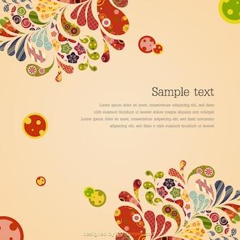 Decorative floral retro background