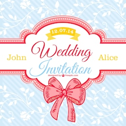 Decorative floral wedding card