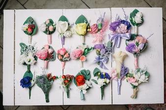 Decorative flowers for buttonhole