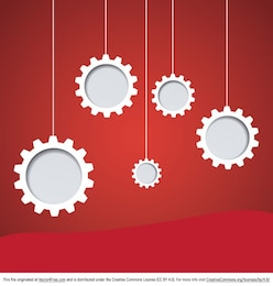 Decorative gears hanging background