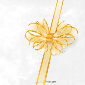 Decorative gold bow