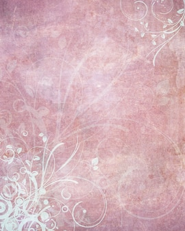 Decorative grunge background with a floral design
