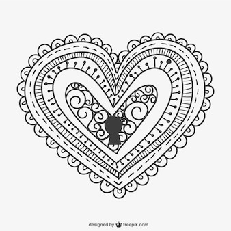 Decorative heart lock