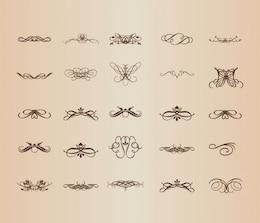Decorative patterns in vintage design