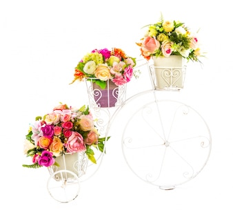 Decorative structure with beautiful flowers