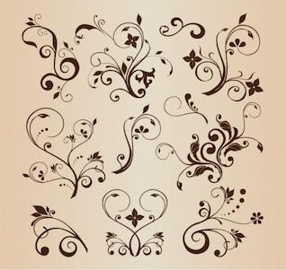 Decorative swirling flourishes illustration