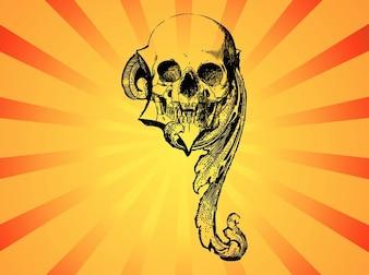 Decorative Weird skull creature  vector