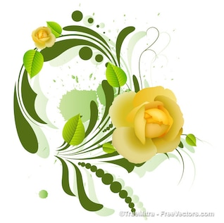 Decorative yellow flower design background