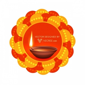 Deepawali celebration greeting card