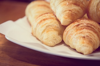 Delicious croissants for breakfast