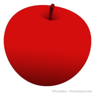 Delicius red apple vector