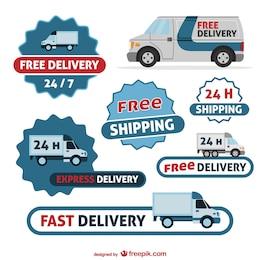 Delivery badges free set