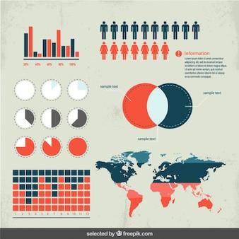 Demographics elements for infographics