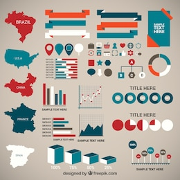 Demography infographic elements