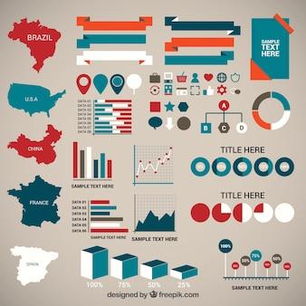 人口統計インフォグラフィック要素