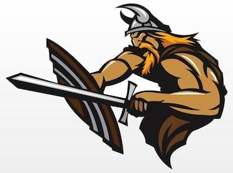 denmark angry Viking battle vector