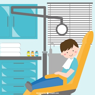 Dentist cabinet vector