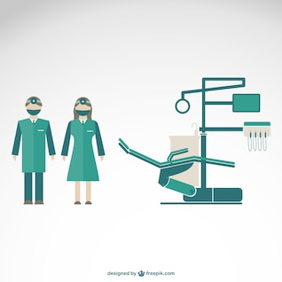 Dentist clinic vector illustration