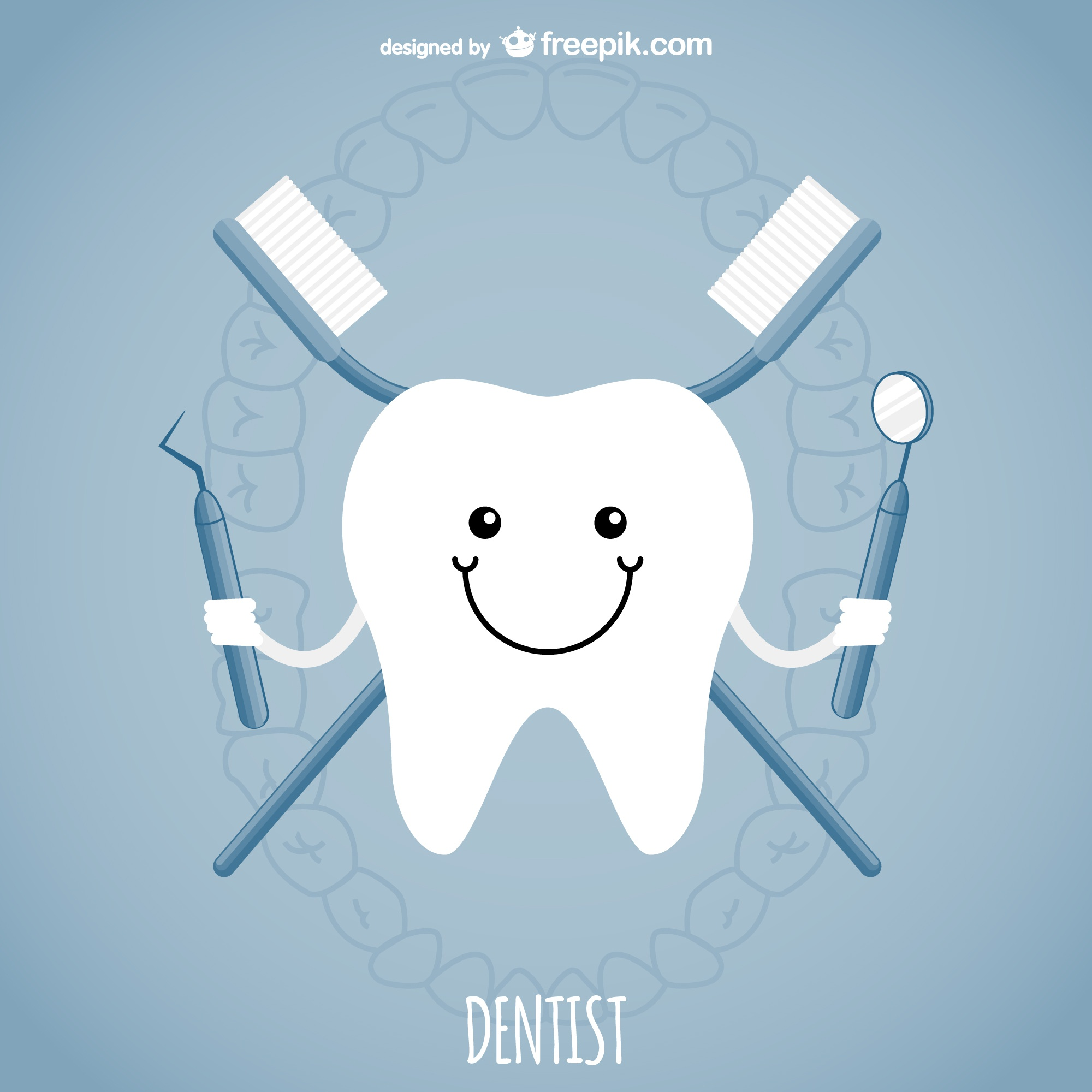 Dentist concept vector