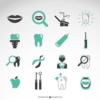 Dentist vector icons collection