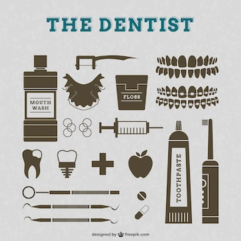 Dentist vector retro graphics